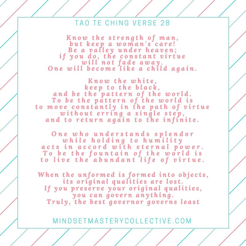 Taoism verse 28 transsexual